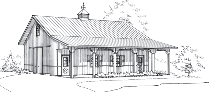 Appalachian Retreat, Pole Barn Garage, FBi Buildings