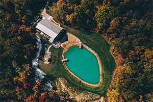 Arrow Aerial View