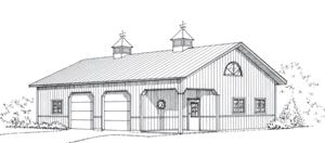 Backyard Beaut, Pole Barn Garage, FBi Buildings