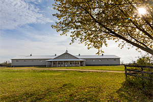 Horse Barn with Indoor Riding Arena
