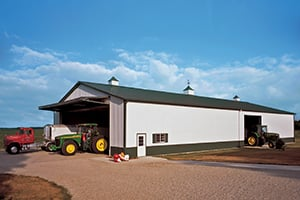 Barns with Tractors