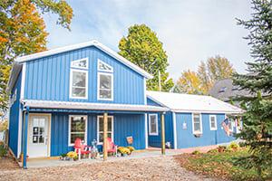 Blue Pole Barn Home
