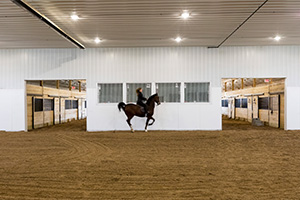 Horse Barn with Indoor Riding Arena_2