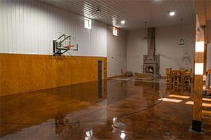 Pole Barn Basketball Court