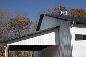 Overhang with Metal Roof