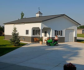 Pole Barn Garage on Existing Concrete