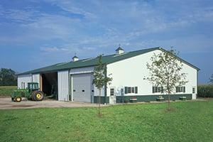Pole Barn with John Deere Tractor-1