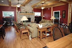 Post Frame Home Living Room