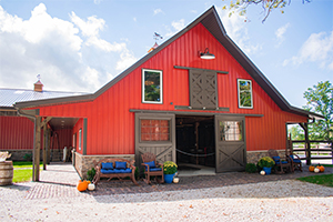 Red Barn with Porch-1
