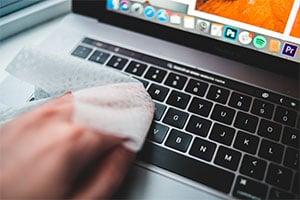 Sanitizing Laptop