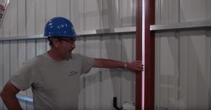 how to fix a pole barn sliding door, step 1