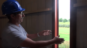 how to fix a pole barn sliding door, step 4
