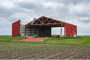 Storm Damage to Barn